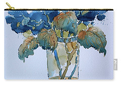 Two Blue Hydrangea Carry-all Pouch