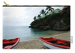 Carry-all Pouch featuring the photograph Two Boats, Island Of Curacao by Kurt Van Wagner