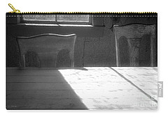 Carry-all Pouch featuring the photograph Two Bodie Chairs by Craig J Satterlee