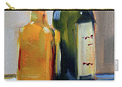 Carry-all Pouch featuring the painting Two Bottles by Nancy Merkle