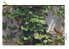 Two Cardinals On The Vine Tree Carry-all Pouch by Svitozar Nenyuk