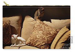 Two Cats Carry-all Pouch by John Kolenberg