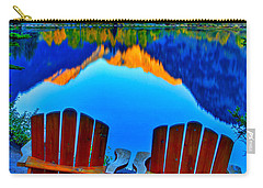 Two Chairs In Paradise Carry-all Pouch by Scott Mahon
