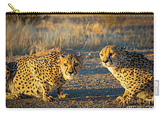 Two Cheetahs Carry-all Pouch by Inge Johnsson