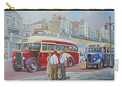 Two Coaches On Brighton Seafront. Carry-all Pouch by Mike Jeffries