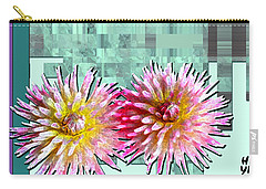 Two Dahlias Carry-all Pouch by Shirley Heyn