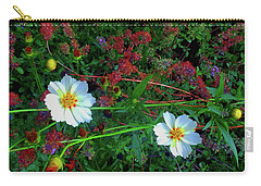 Carry-all Pouch featuring the photograph Two Daisies by Roger Bester
