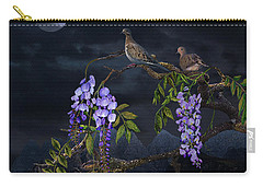 Mourning Doves In Moonlight Carry-all Pouch