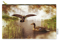 Two Ducks In A Pond Carry-all Pouch