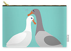 Two Ducks In Love Carry-all Pouch