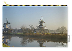 Two Dutch Windmills In The Fog Carry-all Pouch