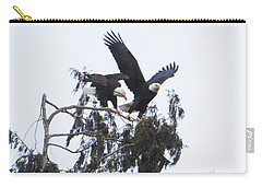 Two Eagles Landing In A Tree Carry-all Pouch