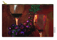 Two Friends Divided By Grapes Of Wrath Painting Carry-all Pouch
