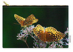 Two Fritillaries Carry-all Pouch by Kathryn Meyer