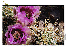 Carry-all Pouch featuring the photograph Two Fucshia Blossoms  by Phyllis Denton