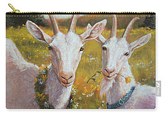 Two Goats Of Summer Carry-all Pouch by Tracie Thompson