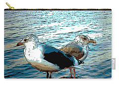 Two Gulls Carry-all Pouch by Ann Tracy