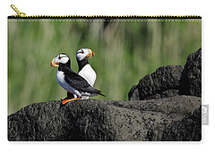 Two Horned Puffins Carry-all Pouch