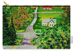 Two Lane Highway Carry-all Pouch by Mike Caitham