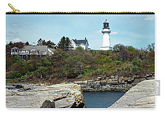 Carry-all Pouch featuring the photograph Two Lights - Maine by Joseph Hendrix