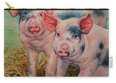 Two Little Pigs  Carry-all Pouch by Margaret Stockdale