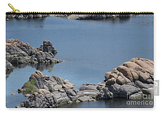 Carry-all Pouch featuring the photograph Two Lone Trees At Granite Dells by Anne Rodkin