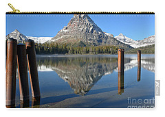 Carry-all Pouch featuring the photograph Two Med Posts Color by Adam Jewell