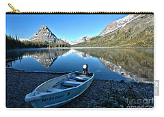Carry-all Pouch featuring the photograph Two Medicine Boat 2 by Adam Jewell