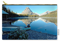 Carry-all Pouch featuring the photograph Two Medicine Boat 4 by Adam Jewell