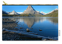 Carry-all Pouch featuring the photograph Two Medicine Drift Log by Adam Jewell