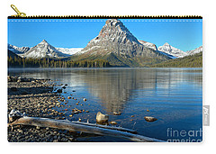 Carry-all Pouch featuring the photograph Two Medicine Driftwood by Adam Jewell