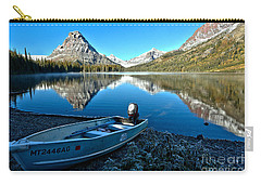 Carry-all Pouch featuring the photograph Two Medicine Motorboat by Adam Jewell