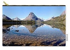 Carry-all Pouch featuring the photograph Two Medicine Pano by Adam Jewell