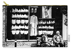 Carry-all Pouch featuring the photograph Two Old Men And Lingerie by Karen Stahlros