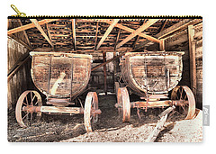 Carry-all Pouch featuring the photograph Two Old Wagons by Jeff Swan