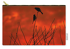 Carry-all Pouch featuring the photograph Two On A Twig by Mark Blauhoefer