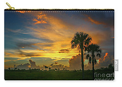 Two Palm Silhouette Sunrise Carry-all Pouch