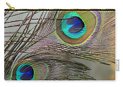 Two Peacock Feathers Carry-all Pouch