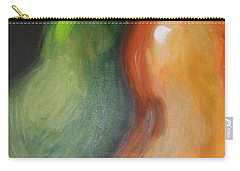 Carry-all Pouch featuring the painting Two Pears by Jolanta Anna Karolska