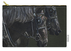 Two Percherons Carry-all Pouch