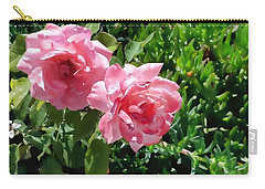 Two Pink Roses Version 1 Carry-all Pouch