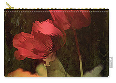 Two Poppies Carry-all Pouch by Elaine Teague