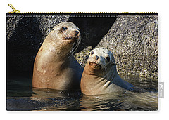 Two Quiet Sea Lions Carry-all Pouch