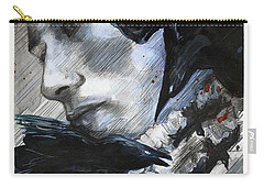 Carry-all Pouch featuring the painting Two Ravens Bringing Blood To The Skies  by Rene Capone