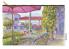 Two Readers In The Crystal Cove Mall, Laguna Beach, California Carry-all Pouch