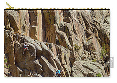 Carry-all Pouch featuring the photograph Two Rock Climbers Making Their Way by James BO Insogna