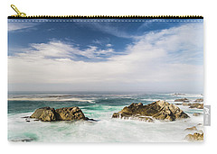 Carry-all Pouch featuring the photograph Two Rocks In The Pacific Ocean by Jingjits Photography