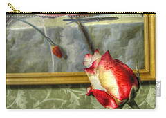 Carry-all Pouch featuring the pyrography Two Rose by Yury Bashkin