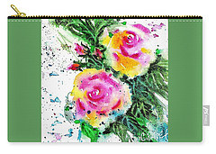 Two Roses And Their Buds Carry-all Pouch