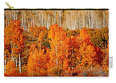 Two Rows Of Aspen Carry-all Pouch by Marcia Socolik